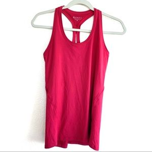 Athleta Hot Pink Work Out Racerback Tank Top